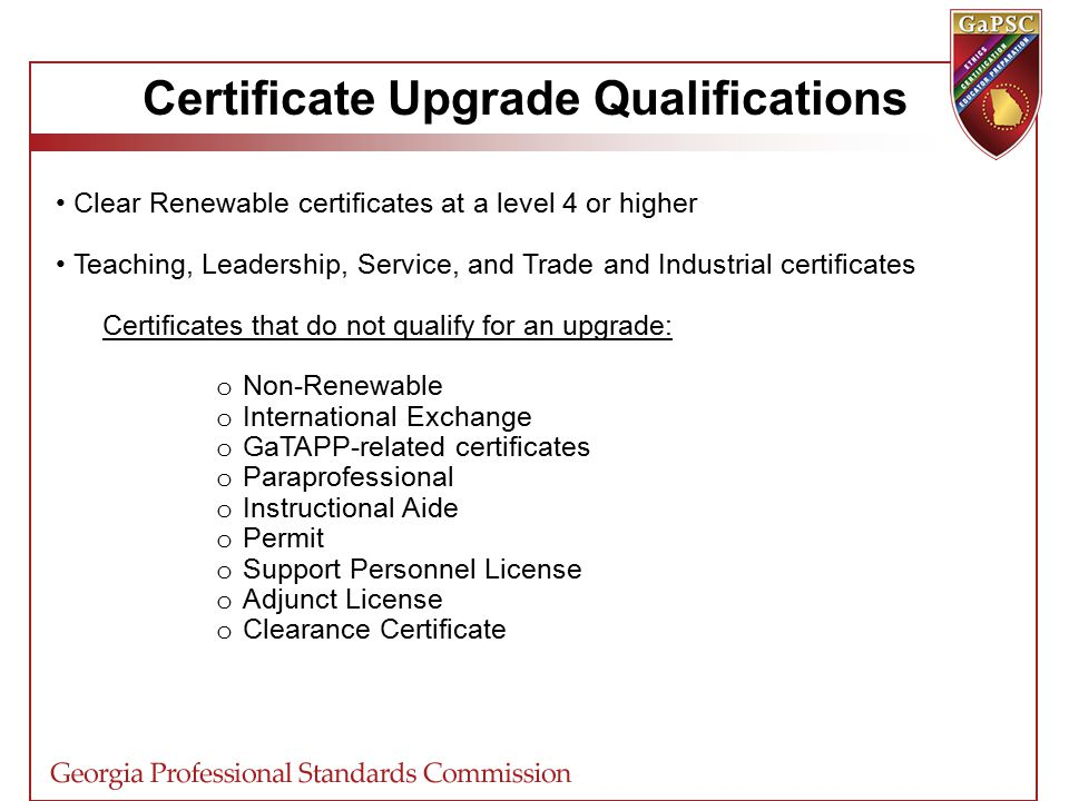 Certification Update Spring What Is Certification Up To Now