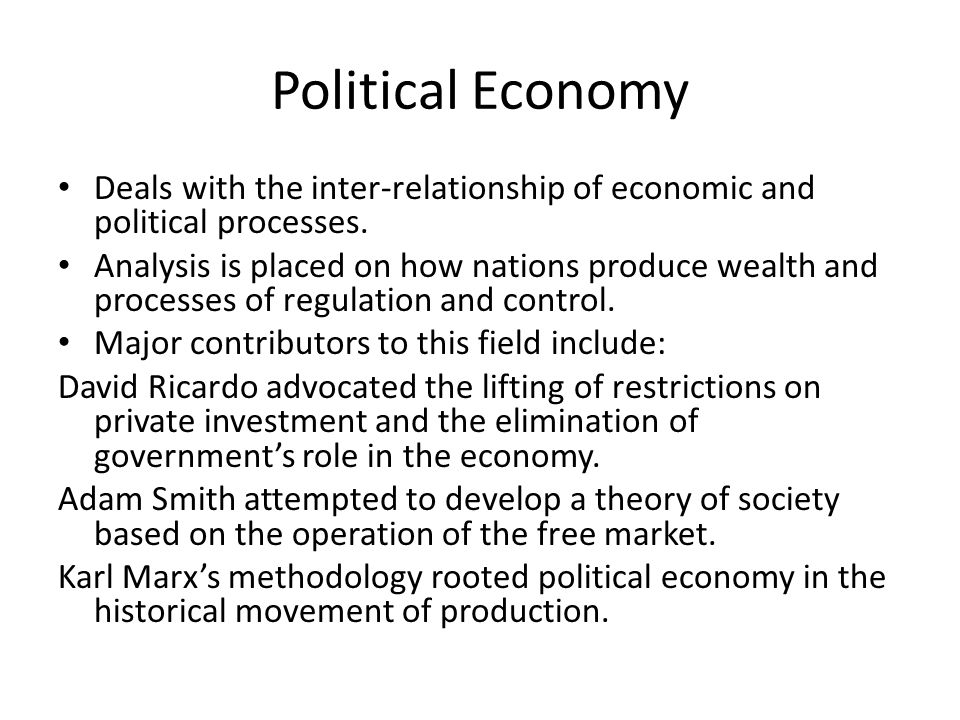 the nature of political economy summary