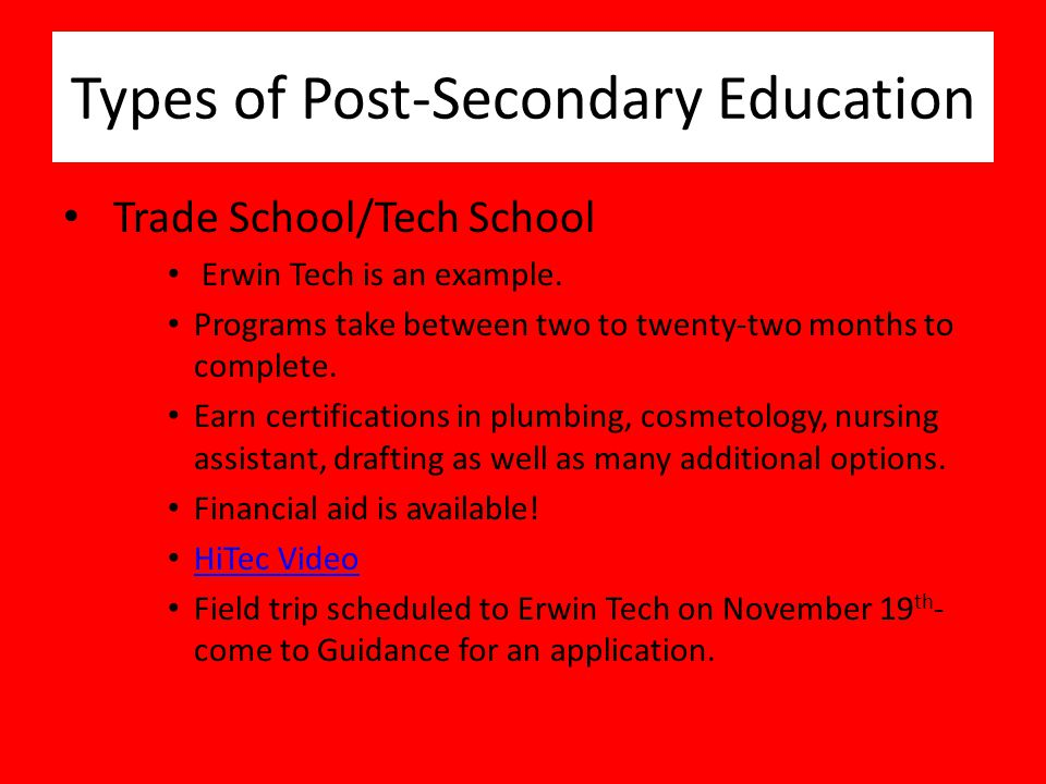 senior post secondary planning bloomingdale high school class of ppt