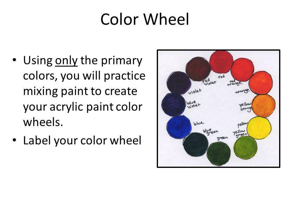 Landscape Project Painting Techniques Practice Color Wheel And