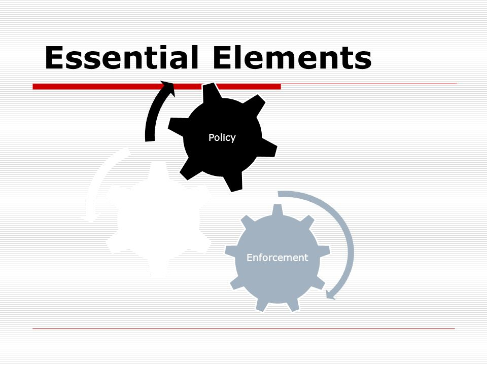 Essential Elements Enforcement Public Support Policy