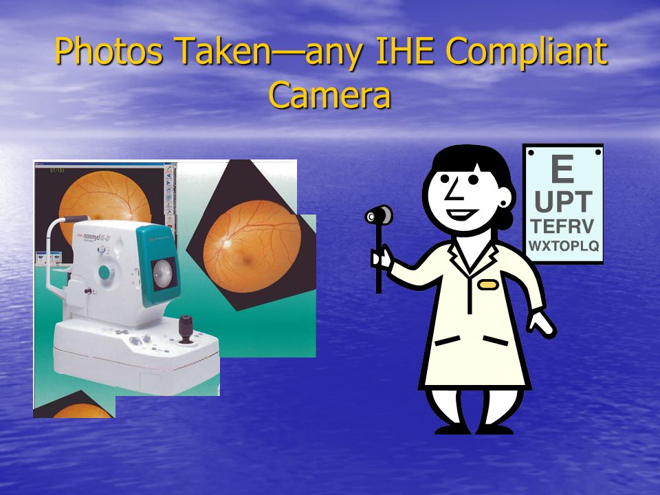 Photos Taken—any IHE Compliant Camera