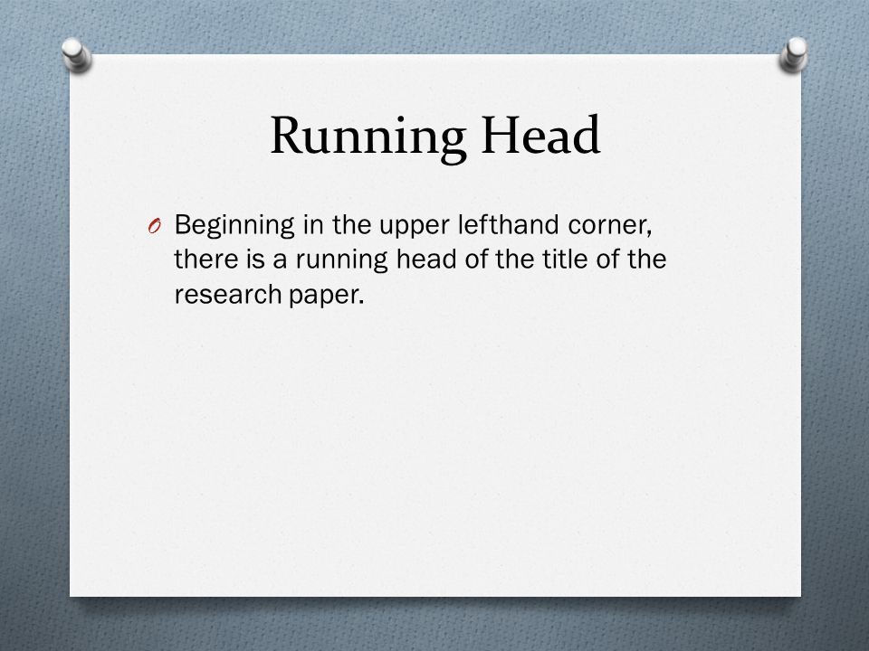 running head example