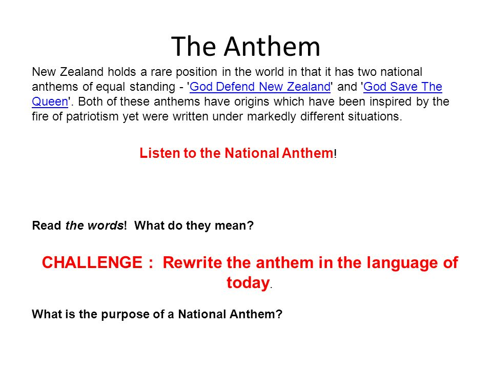 Kiwi Identity Flags Anthems And Coat Of Arms Challenge Draw The