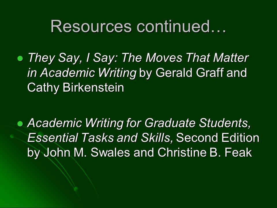 Graduate Writing Skills Strategies For Success In Graduate School