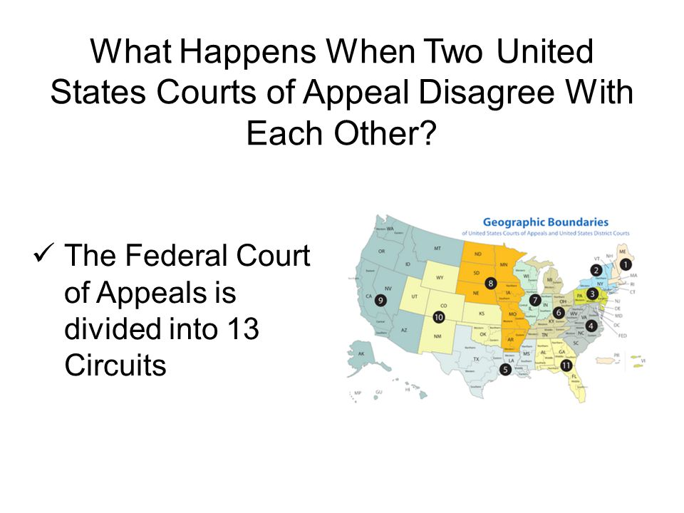 What Happens When Two United States Courts of Appeal Disagree With Each Other.