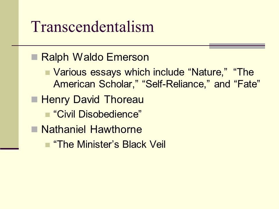 Research Paper Essay  Transcendentalism Ralph Waldo Emerson Various Essays Which Include  Nature The American Scholar  Essay On Healthy Eating Habits also Health Education Essay American Humanities Final Exam Review Transcendentalism Ralph Waldo  Essay Writing Paper