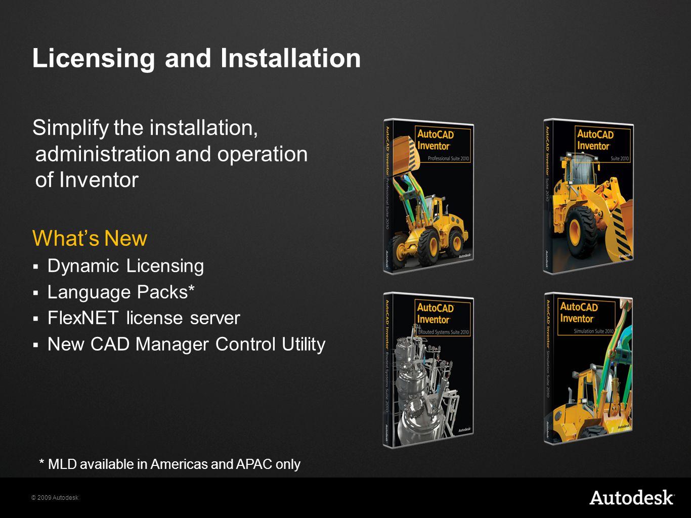 2009 Autodesk What's New in Autodesk Inventor 2010 Presenter