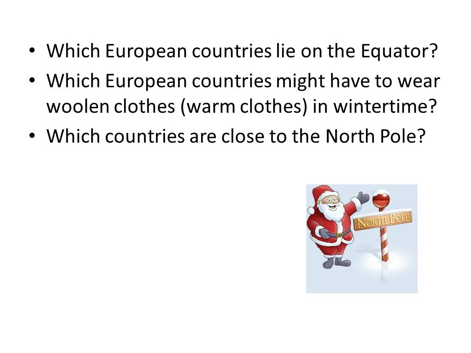 Which European countries lie on the Equator.