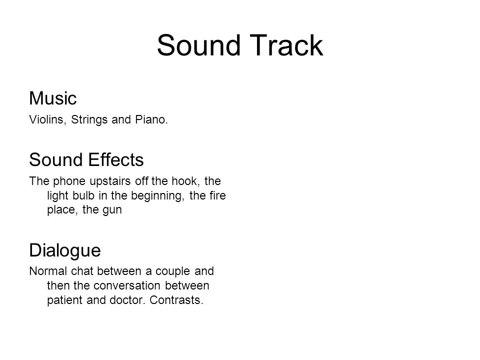 Sound Track Music Violins, Strings and Piano.