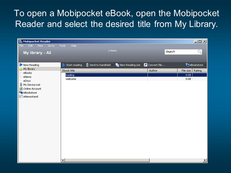 free ebooks mobipocket