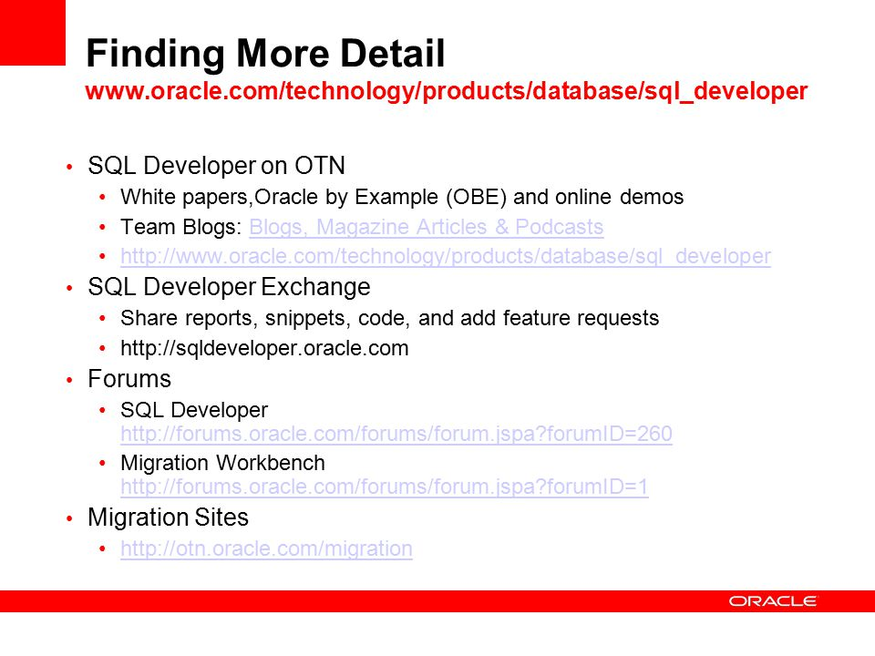 Oracle SQL Developer Kris Rice Director - Database Tools Research