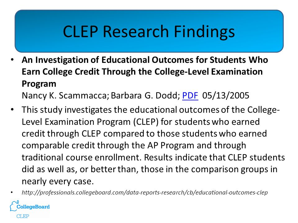 CLEP and Systemwide Credit by Exam policy: Nationally