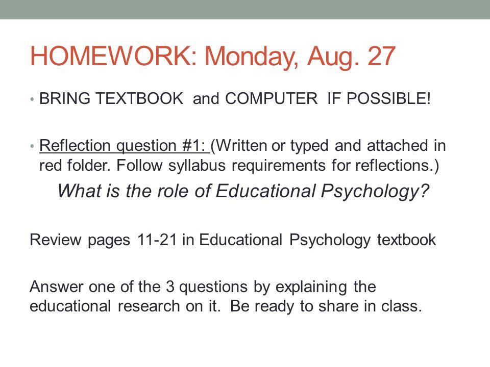 educational psychology questions