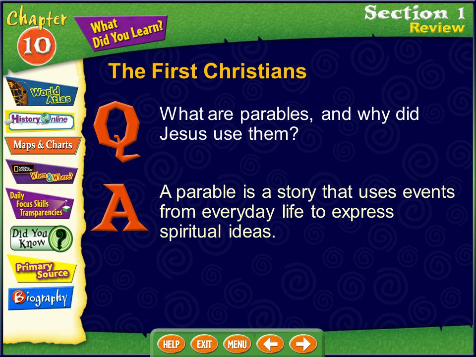 What are parables, and why did Jesus use them.
