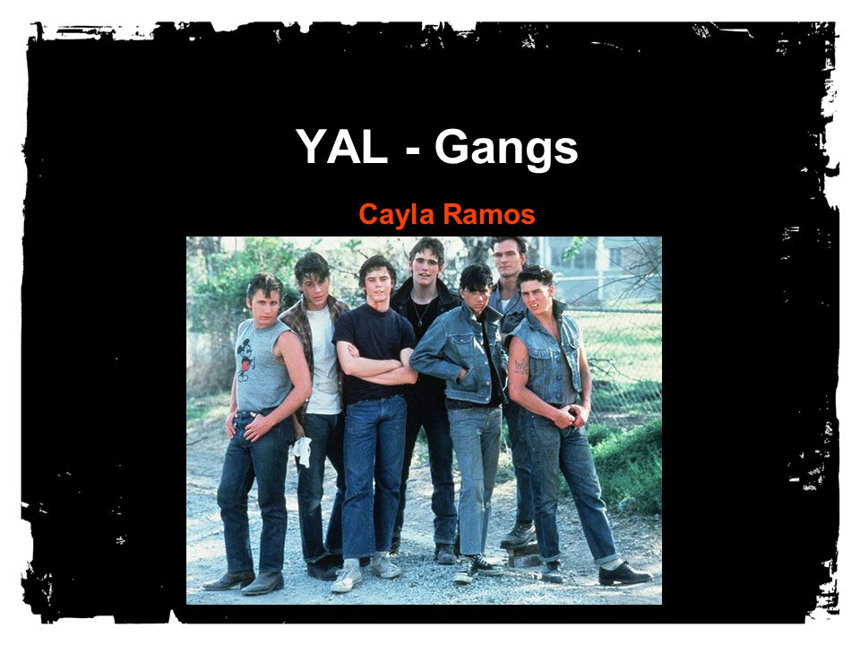 YAL - Gangs Cayla Ramos  Dedicated to The athlete who left school to