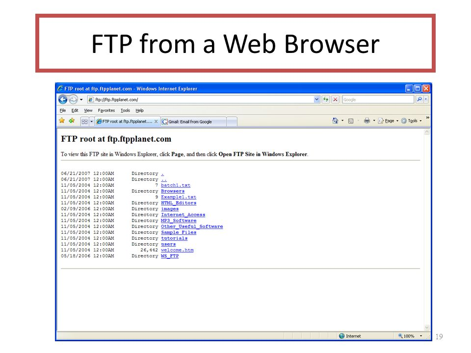 19 FTP from a Web Browser