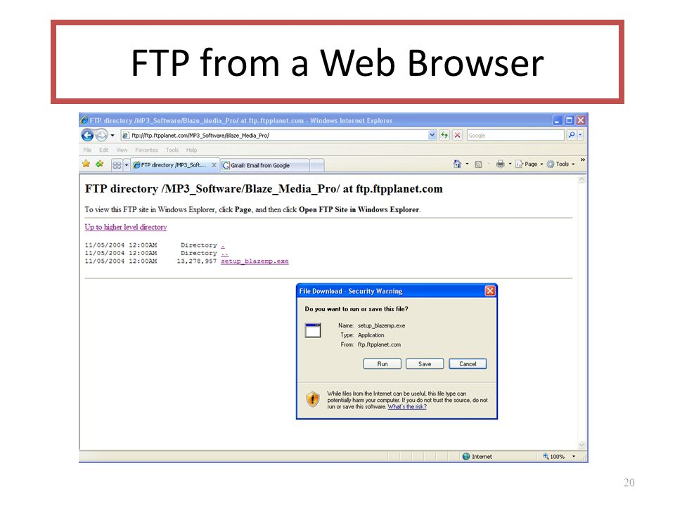 20 FTP from a Web Browser