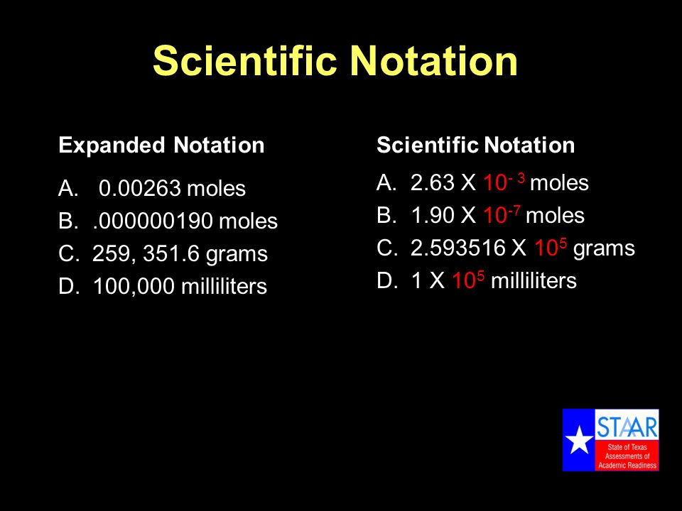 Scientific Notation Expanded Notation A.