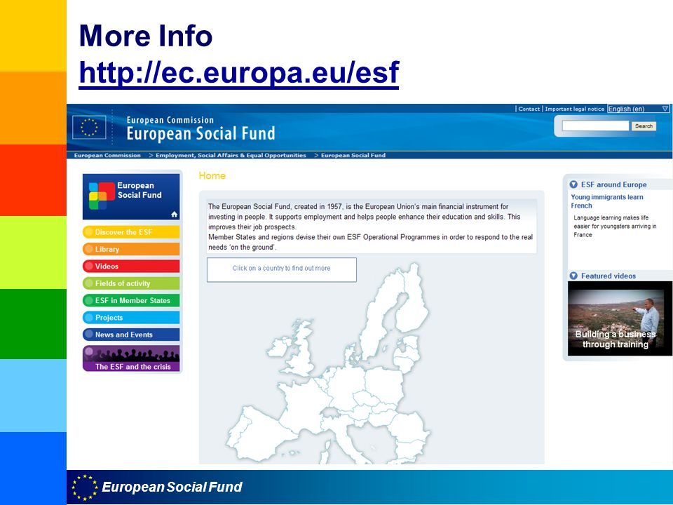 European Social Fund More Info