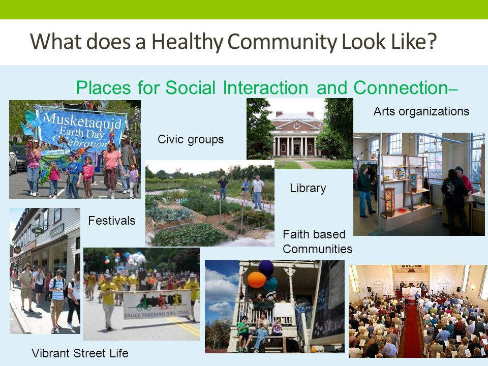 What does a Healthy Community Look Like.