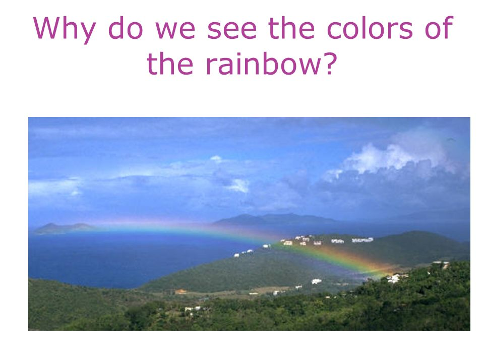 Why do we see the colors of the rainbow