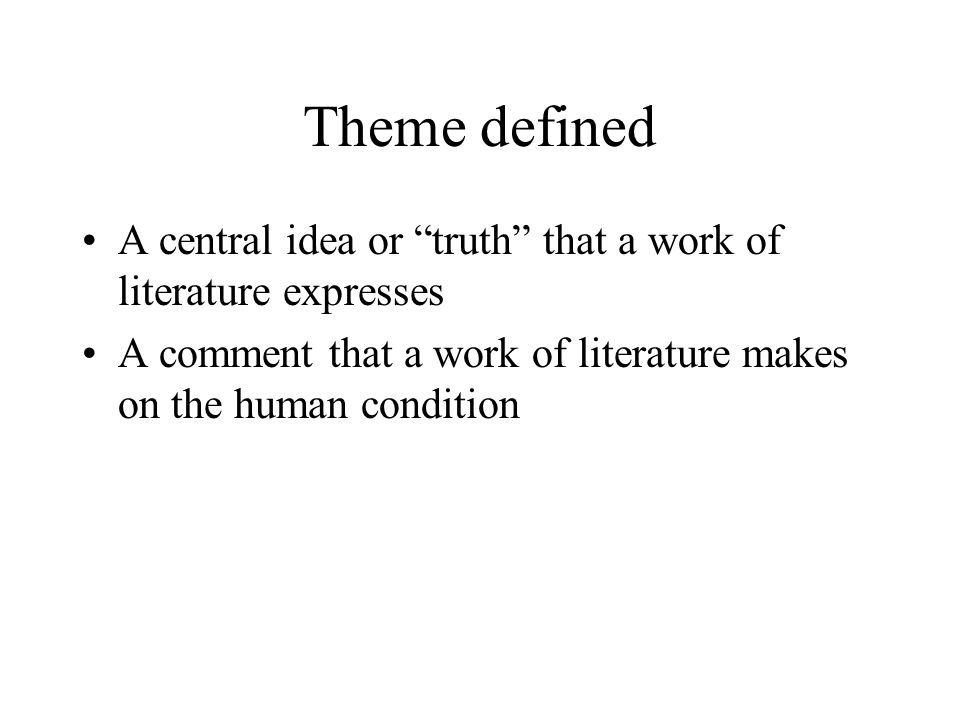 different types of themes in literature