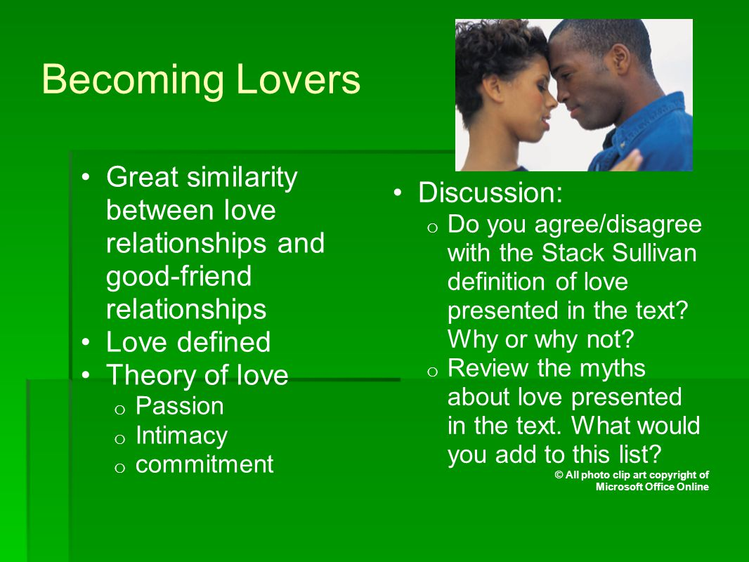 Developing Close Relationships © All photo clip art copyright of