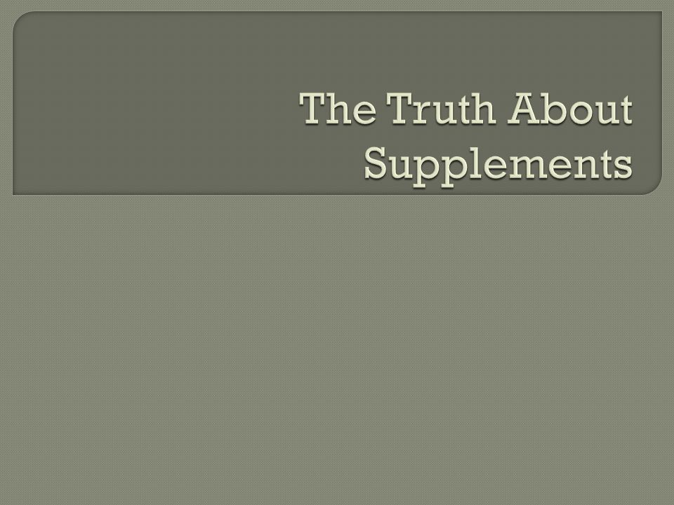 Define And Discuss Vitamins And Mineral Supplements Provide General Recommendations Discuss Popular Functional Foods And Their Claims Ppt Download