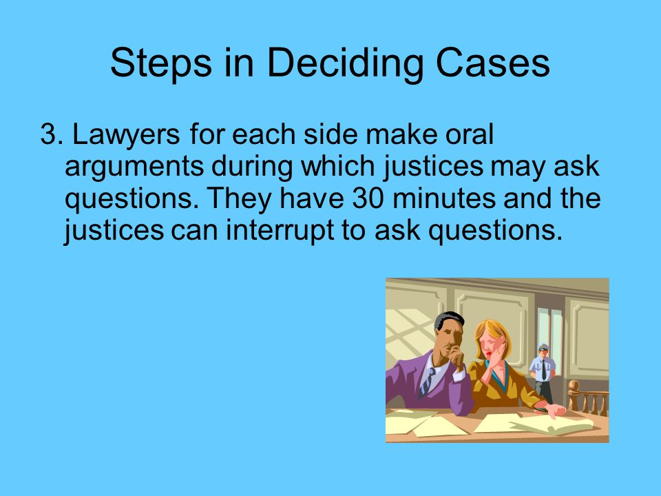 Steps in Deciding Cases 3.