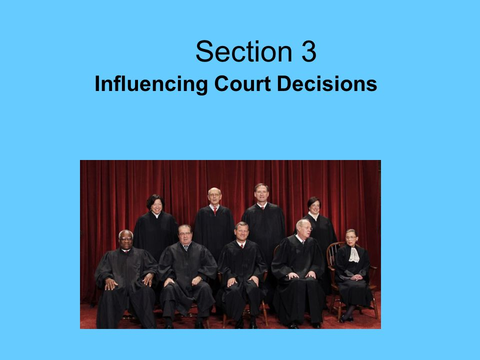 Section 3 Influencing Court Decisions