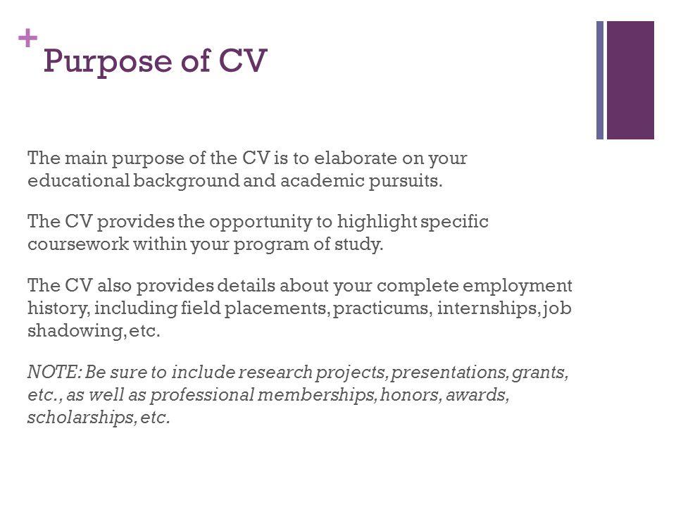 Curriculum Vitae Cv Center For Career Development Ppt Download