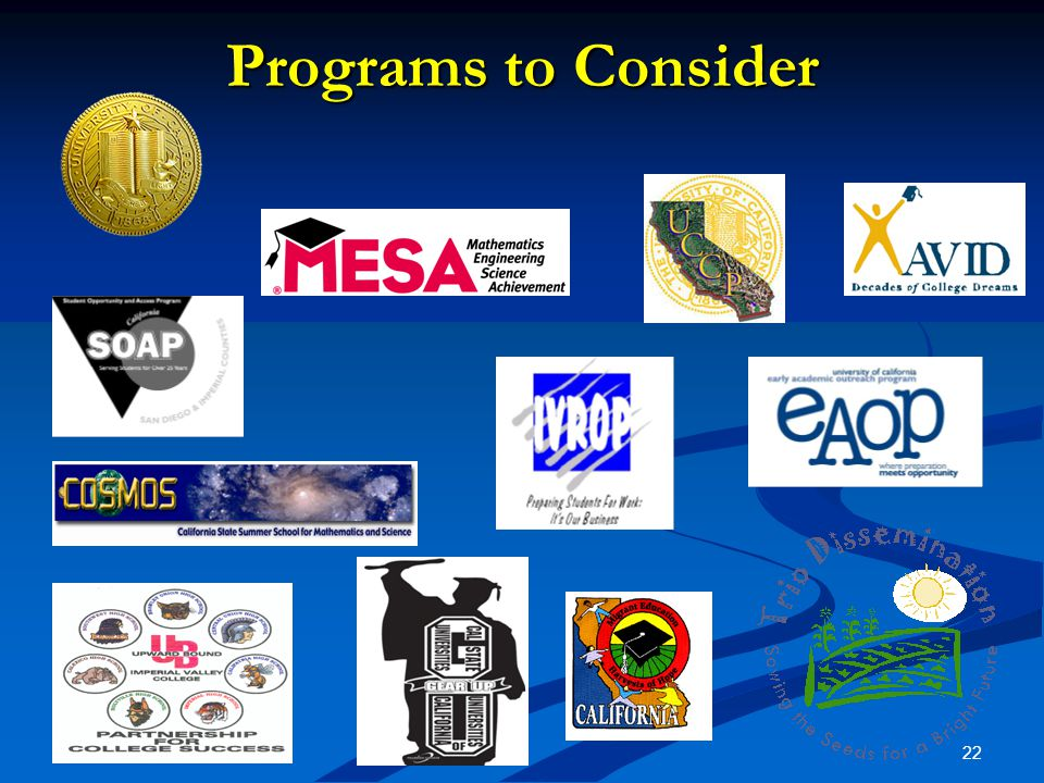 22 Programs to Consider