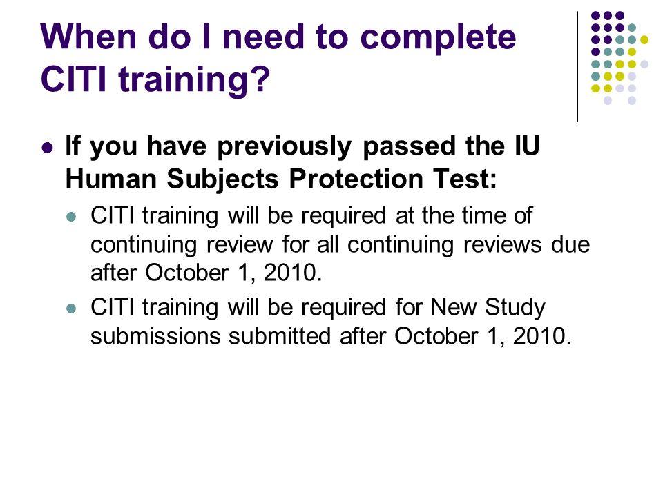 Citi Collaborative Institutional Training Initiative Ppt Download
