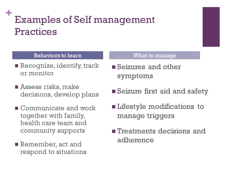 module four: patient/family education and self-management at the end