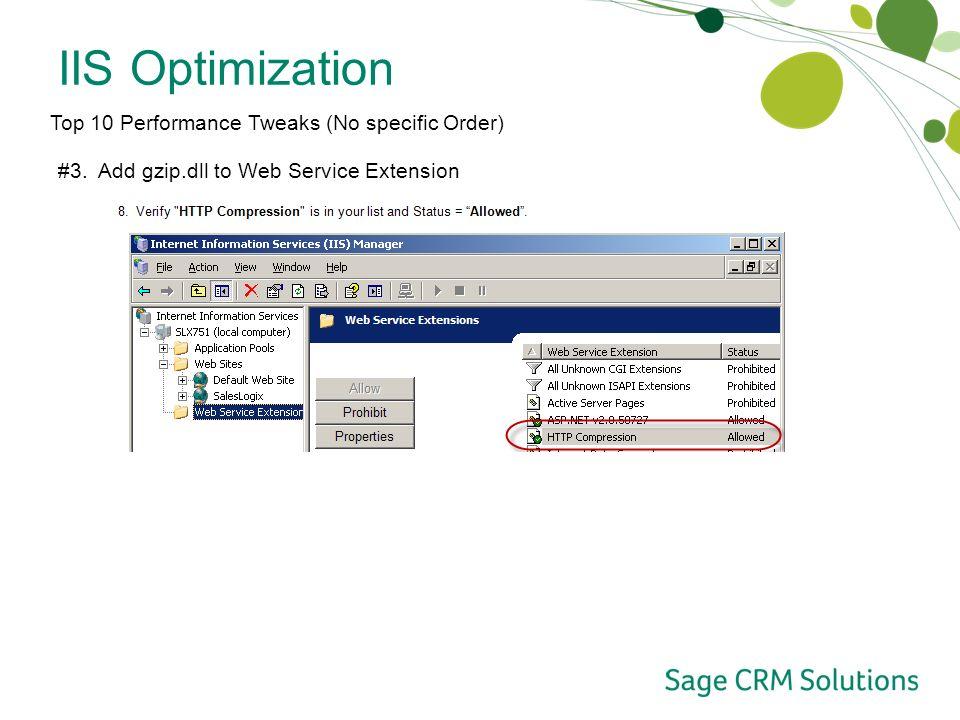 Optimizing SalesLogix Web Tips for your SalesLogix Web