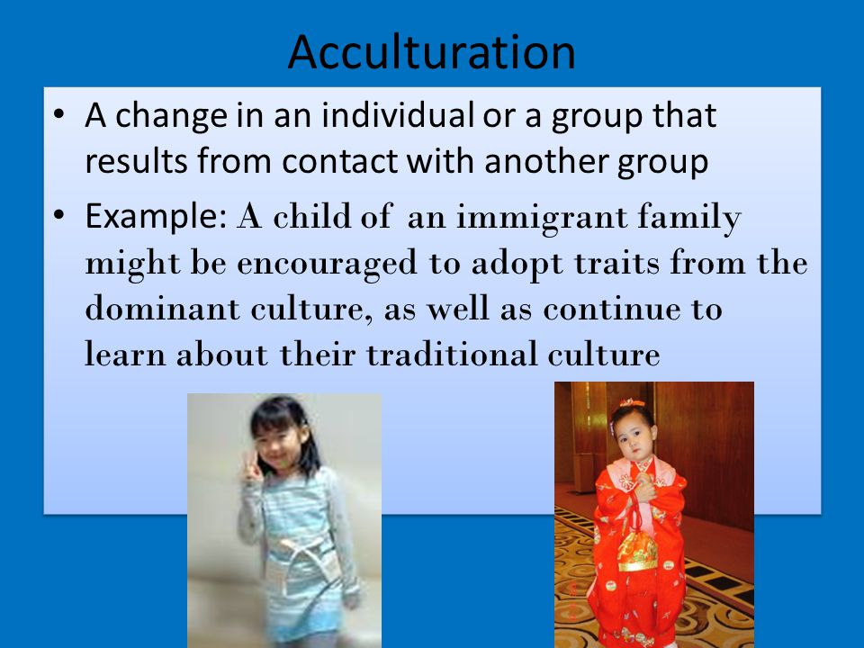 acculturation examples