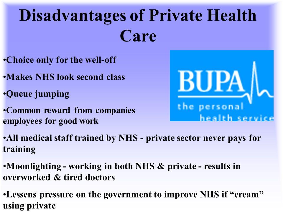 advantages and disadvantages of private hospitals essay