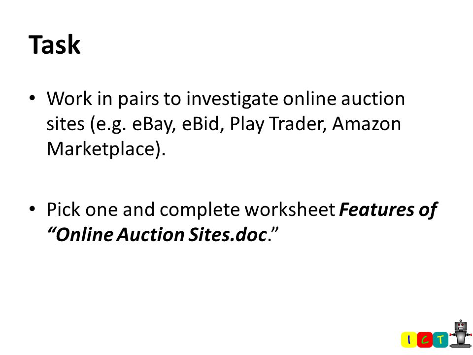 Auction Sites  Question… How many of you would be willing to