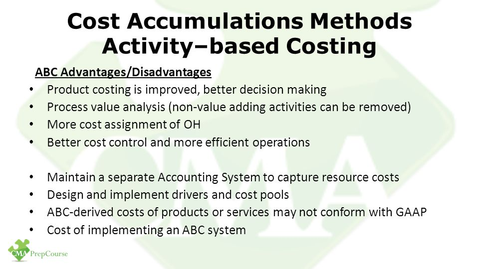 Advantages of Activity-Based Costing