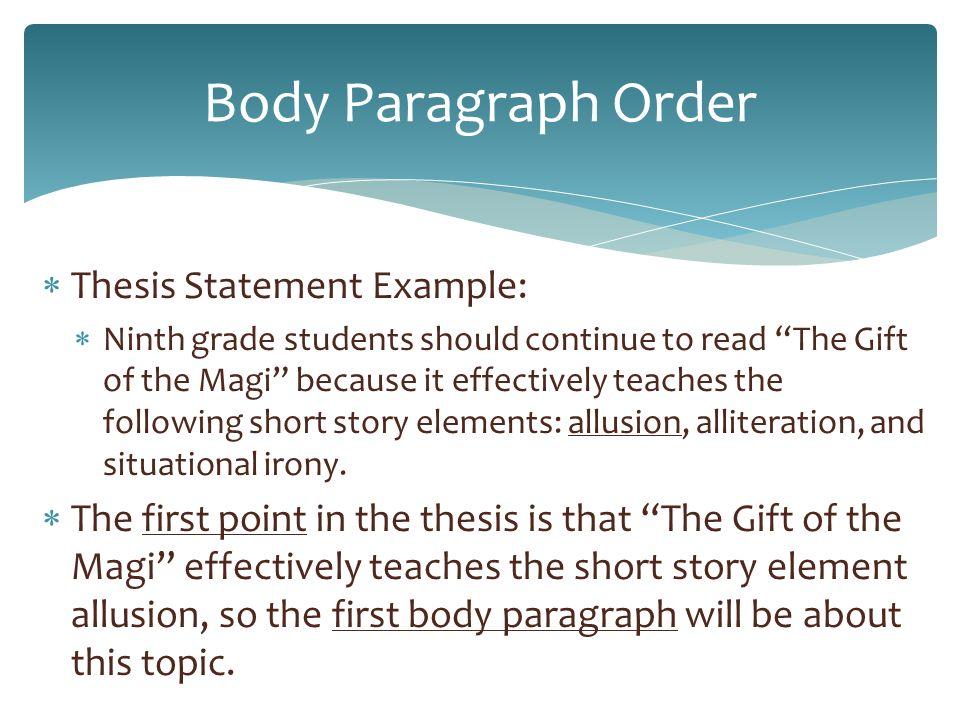short essays body