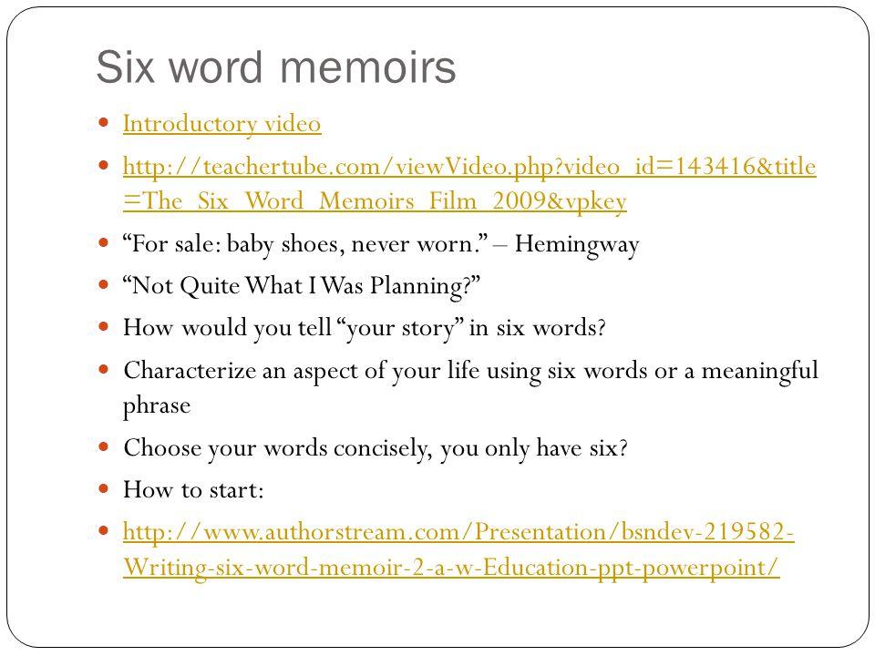 characteristics of a memoir powerpoint