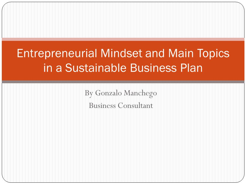business plan topics