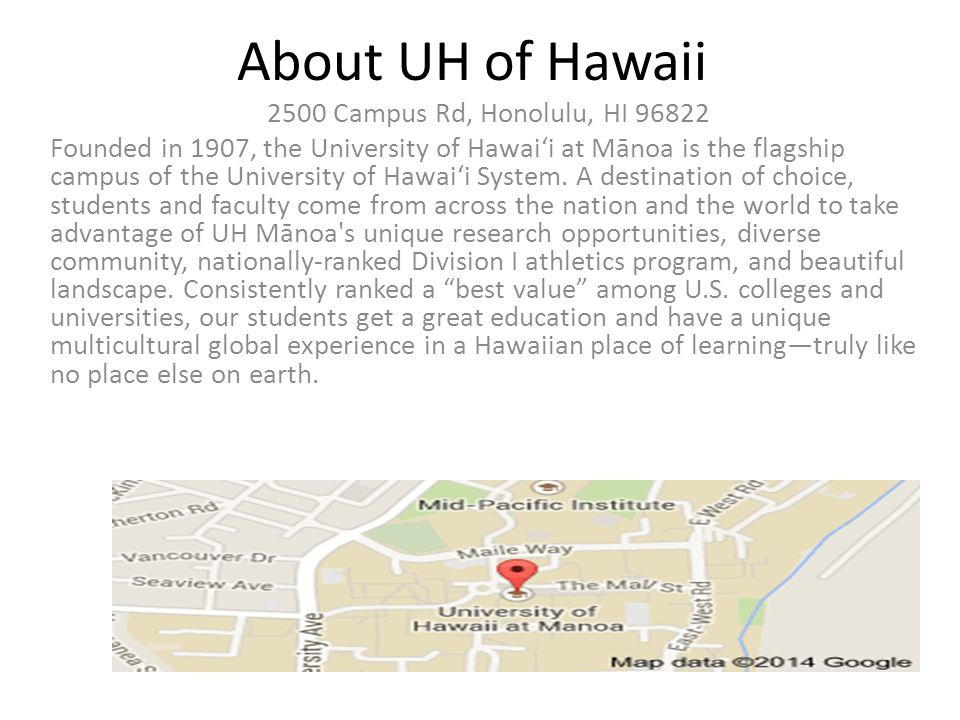 Mid Pacific Institute Campus Map.University Of Hawaii By Michael About Uh Of Hawaii 2500 Campus Rd