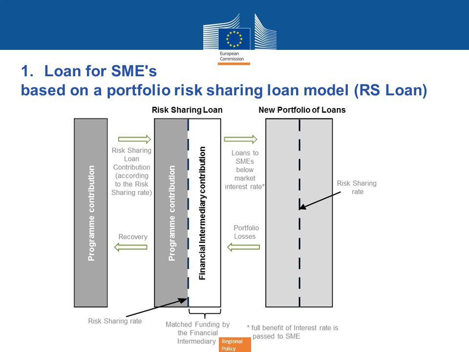Regional Policy 1.Loan for SME s based on a portfolio risk sharing loan model (RS Loan)