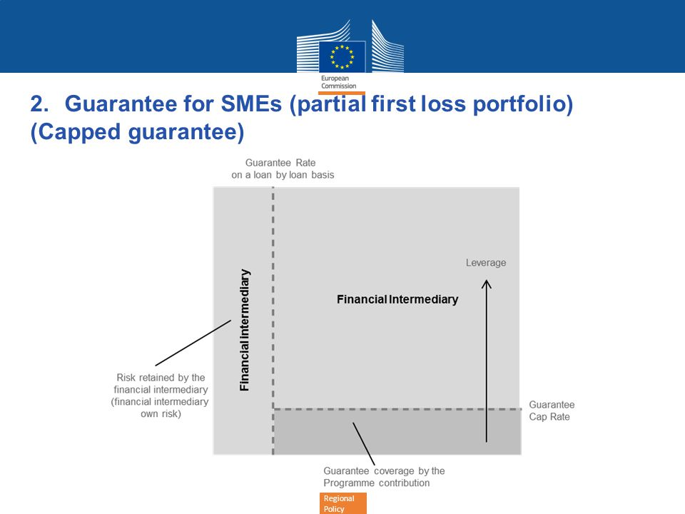 Regional Policy 2.Guarantee for SMEs (partial first loss portfolio) (Capped guarantee)