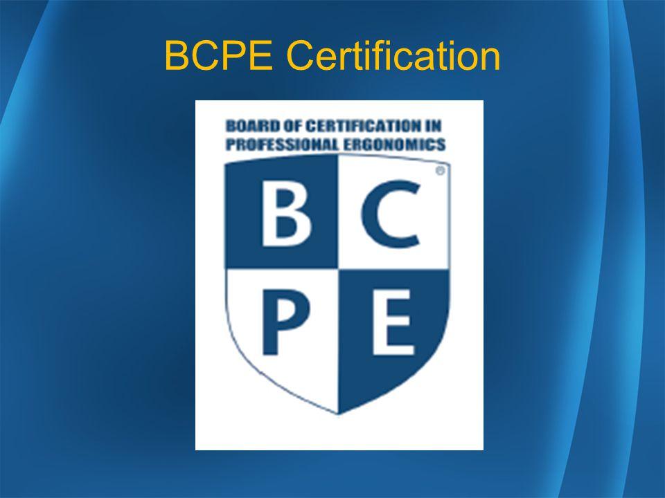 Bcpe Certification Ergonomist The Ergonomist Matches Jobsactions