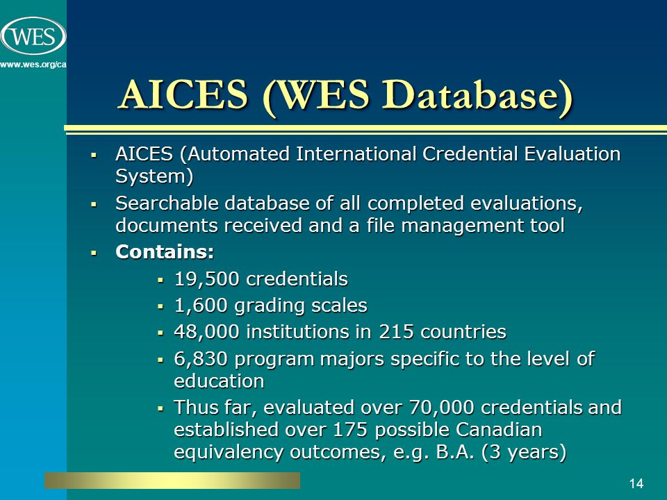 Foreign Academic Credential Recognition in Canada TESL