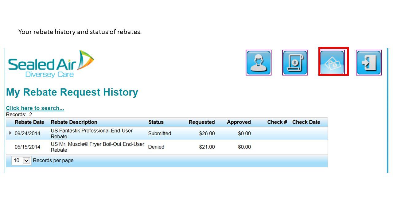 Check Rebate Status >> Diversey Rebates Distributor User Manual Link Click Ppt Download