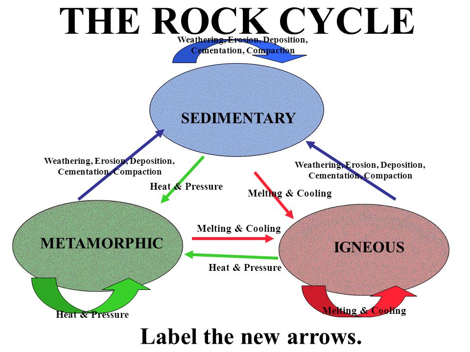 The rock cycle draw three ovals on your paper what should go in the rock cycle label the new arrows ccuart Gallery
